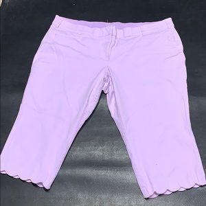 Lane Bryant lavender Capri pants 28